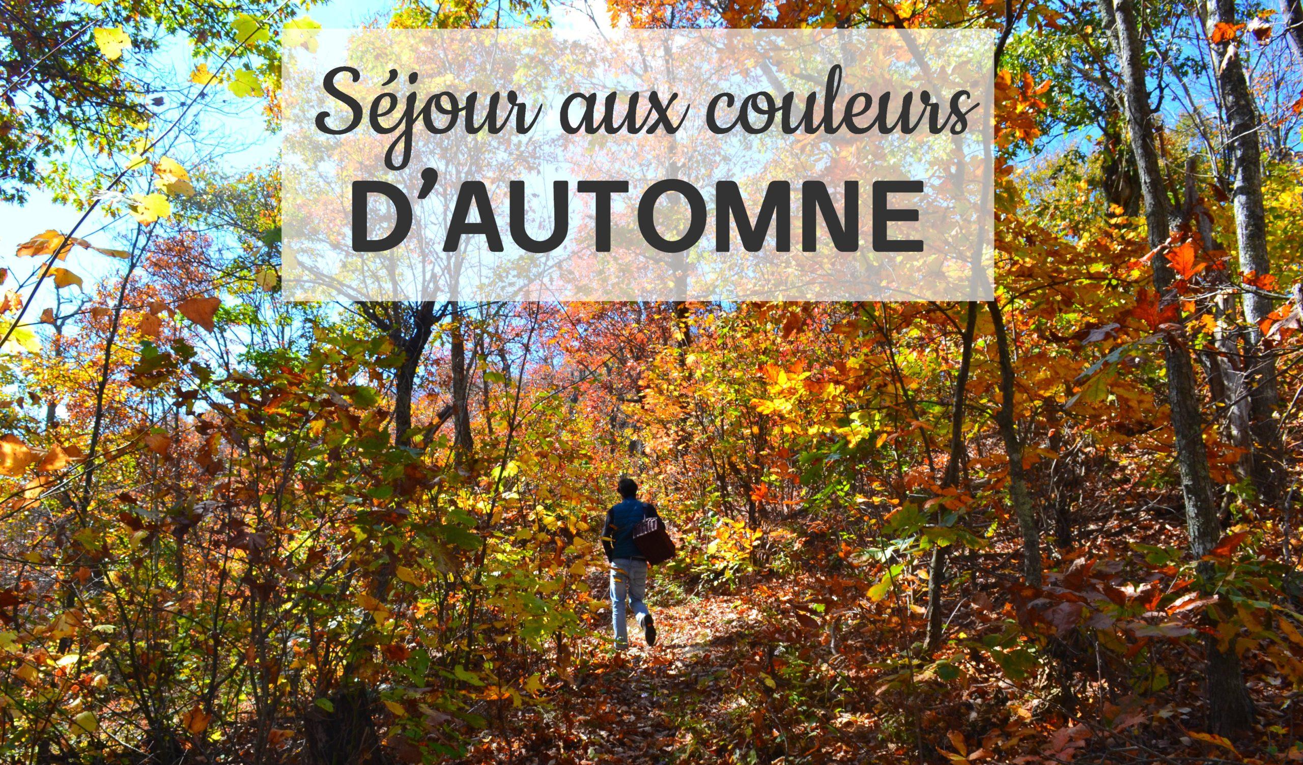 organiser son séjour aux couleurs de l'automne